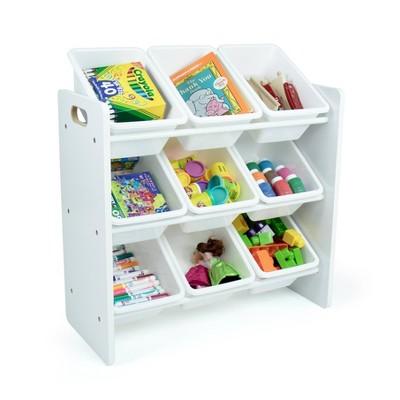 Cambridge White Toy Storage Organizer with 9 Storage Bins White - Humble Crew
