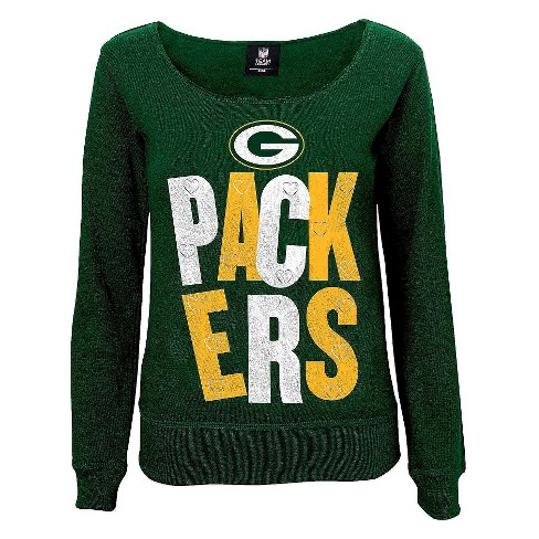 Green Bay Packers Girls Open Neck Fleece L - image 1 of 1