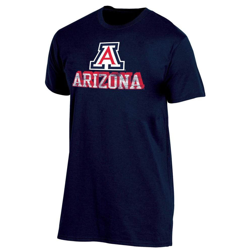 Arizona Wildcats Men's Short Sleeve Keep the Lights On Bi-Blend Gray Heathered T-Shirt M, Multicolored