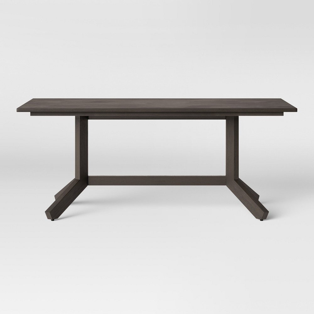 72 Newfield Rectangle Farmhouse Dining Table Reclaimed Oak Brown - Threshold