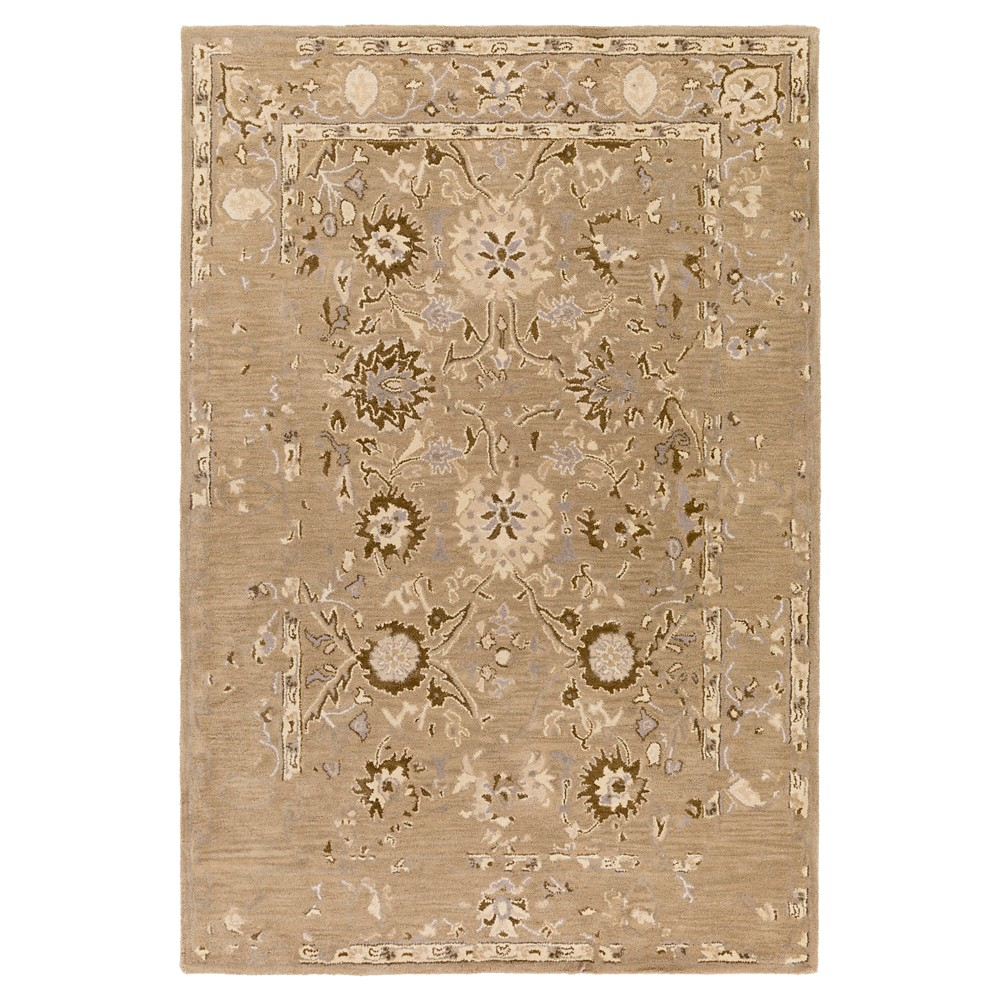 Dark Brown Abstract Tufted Area Rug - (5'x7'6) - Surya