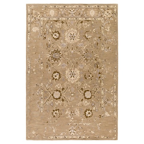Dark Brown Abstract Tufted Area Rug - (4'x6') - Surya - image 1 of 3