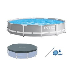 Intex 26711EH 12ft x 30in Prism Above Ground Pool Set w/ Cover & Maintenance Kit