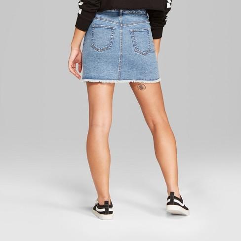 459318396f49 Women's Studded Denim Mini Skirt - Wild Fable™ Light Wash : Target