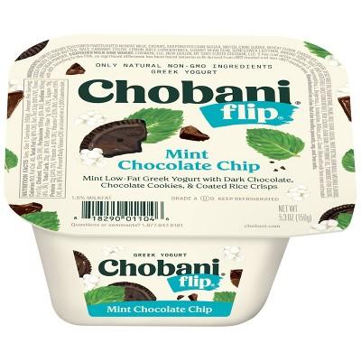 Chobani Flip Mint Chocolate Chip Low Fat Greek Yogurt - 5.3oz