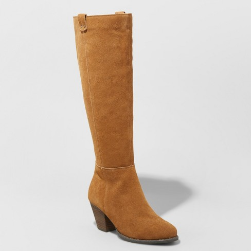 Women's Sara Heeled Leather Boots - Universal Thread™ - image 1 of 3