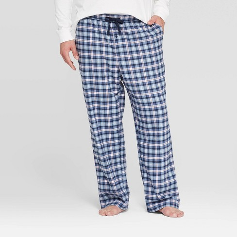 Men's Big & Tall Plaid Flannel Pajama Pants - Goodfellow & Co™ Blue - image 1 of 2