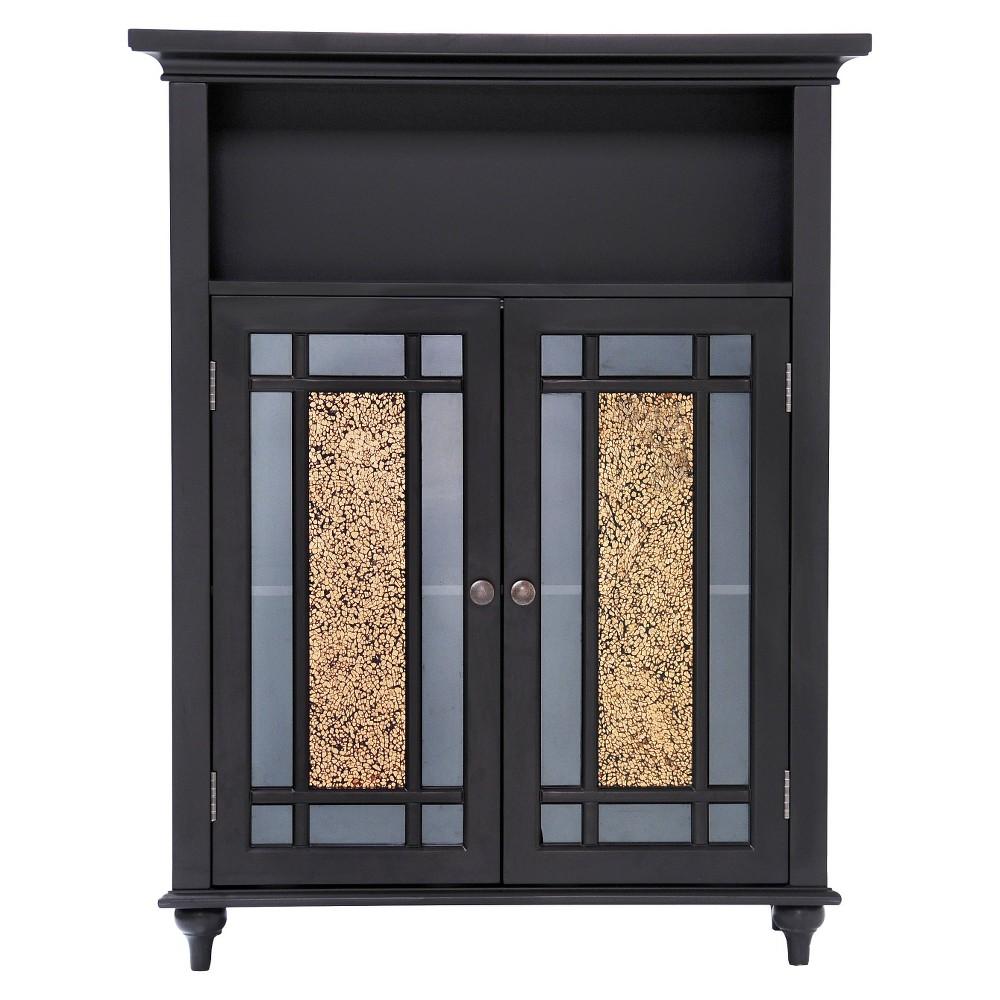 Elegant Home Fashions Windsor Double Door Floor Cabinet - Dark Espresso