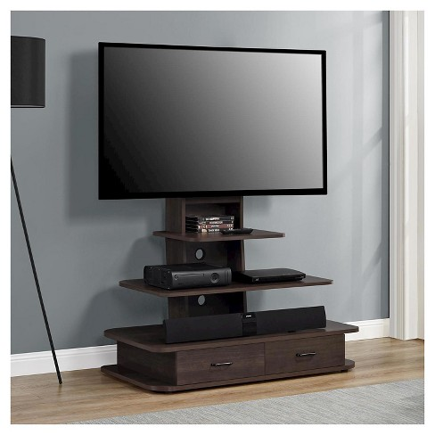 Solar Tv Stand With Mount And Drawers For Tvs Up To 70 Wide
