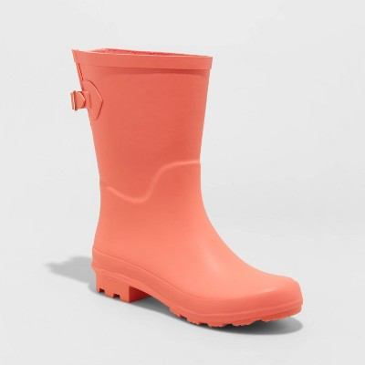 Women's Vicki Rubber Buckle Rain Boots - A New Day™