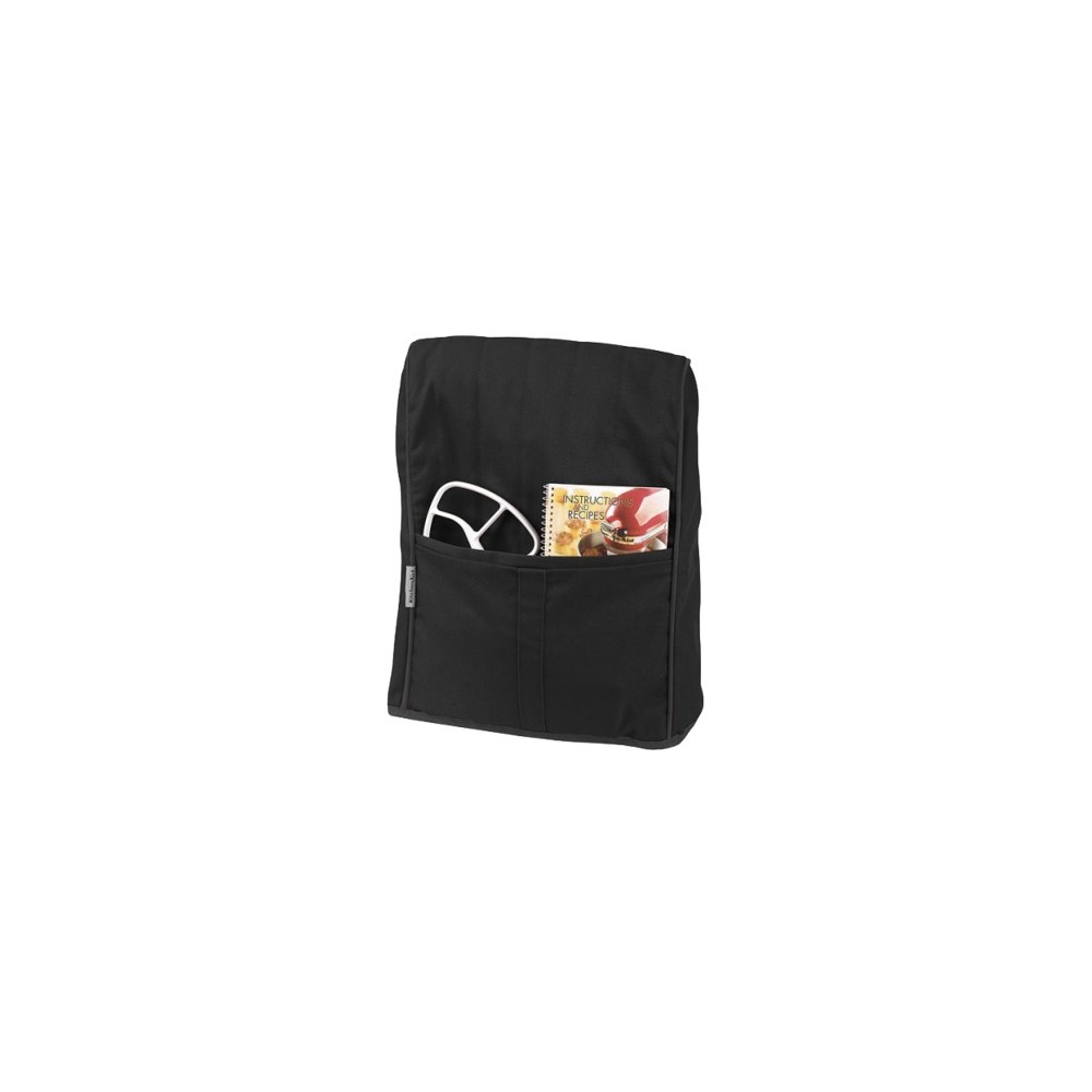 KitchenAid Stand Mixer Cloth Cover - KMCC1, Black Keep your stand mixer perfectly clean when not in use with this stand mixer cover designed for KitchenAid Tilt-Head Stand Mixers. Convenient pocket to hold accessories or a small recipe book. One year limited replacement warranty. Color: Black.