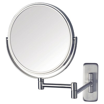 Jerdon 5X-1X Wall Mount Mirror Double Arm Nickel