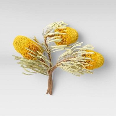 "5"" x 2"" Artificial Protea Arrangement Stem Yellow - Threshold™"