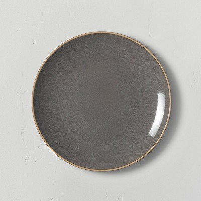 Stoneware Exposed Rim Salad Plate Gray - Hearth & Hand™ with Magnolia