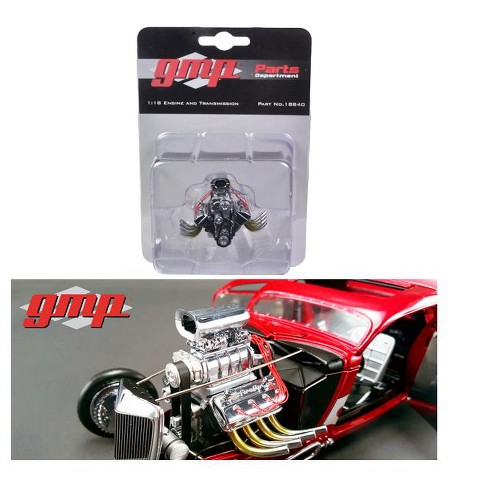 1934 Blown 426 Nitro Coupe Drag Engine and Transmission Replica 1/18 by GMP - image 1 of 1