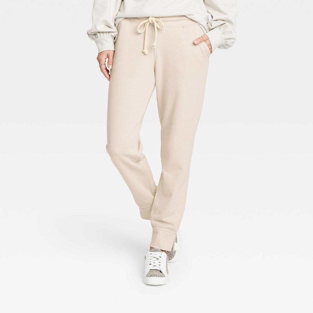 Women 39 S Jogger Pants Universal Thread 8482 Cream S