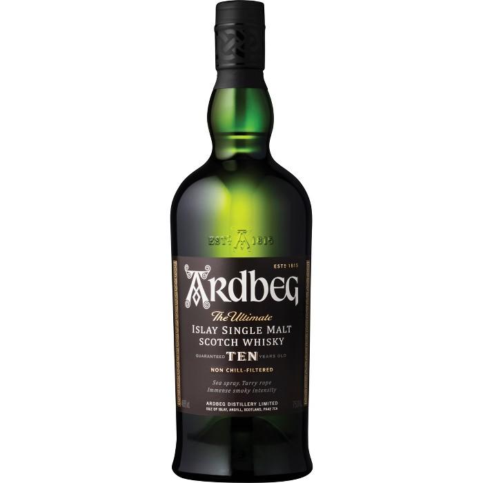 Ardbeg Ten Years Old Islay Single Malt Scotch Whisky- 750ml Bottle - image 1 of 5
