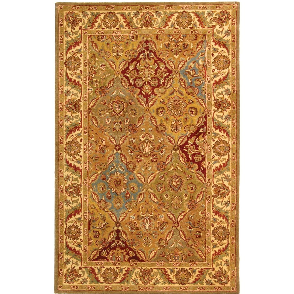 2'3X4' Medallion Tufted Accent Rug Ivory - Safavieh, Multi-Colored/Ivory