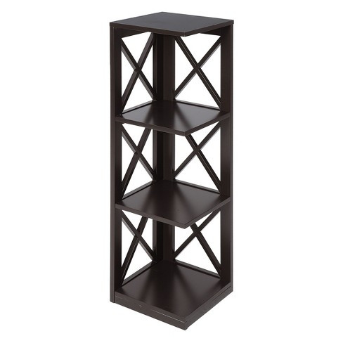 Oxford 3 Tier Corner Bookcase Espresso - Johar - image 1 of 3