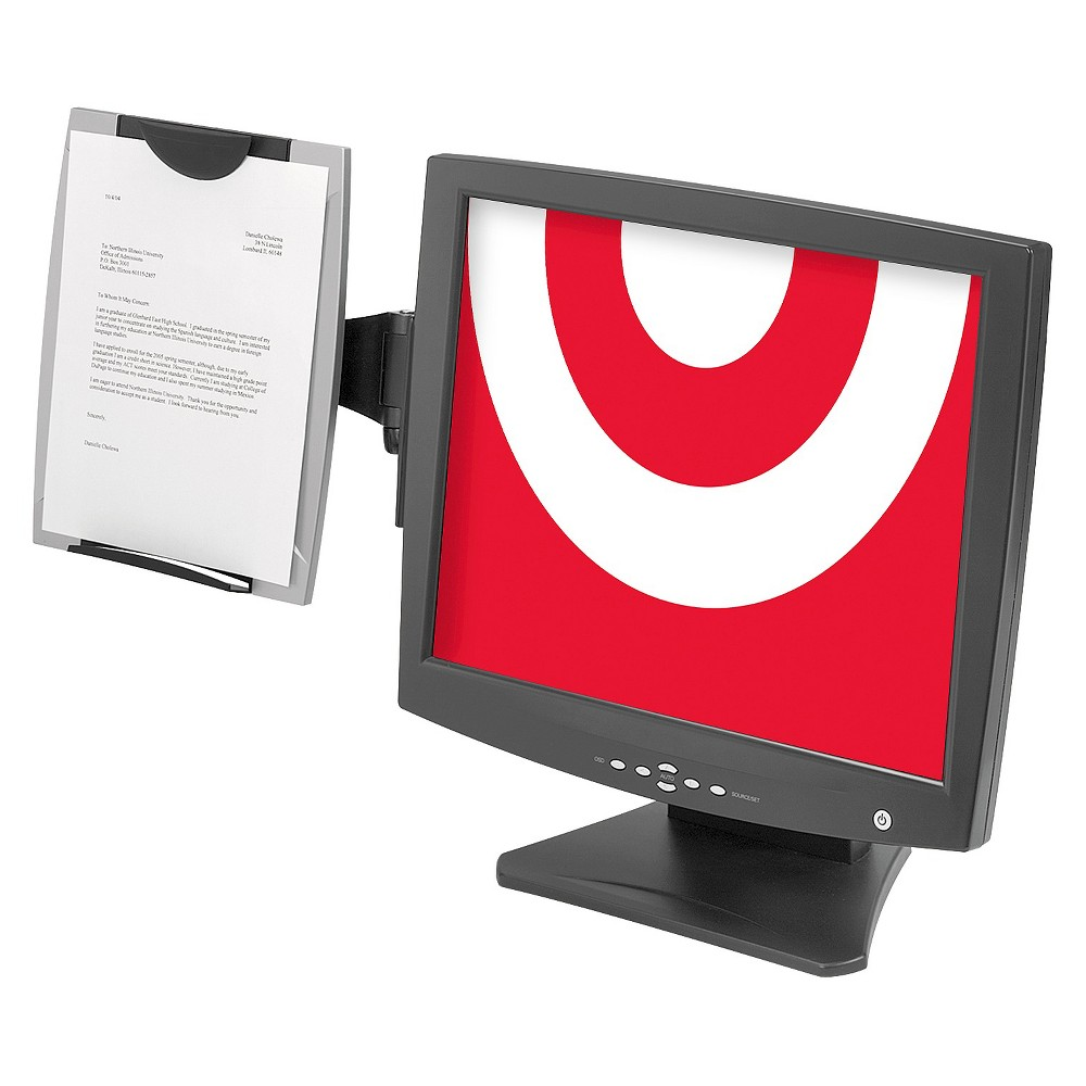 Image of Office Suites Monitor Mount Copyholder, Holds 150 Sheets