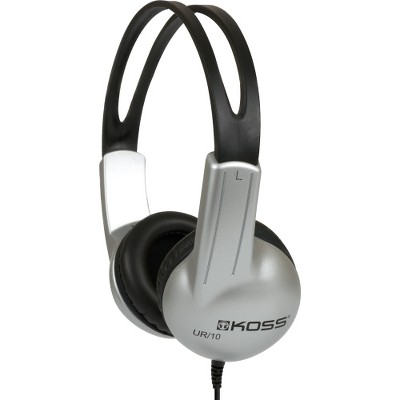 Koss UR10 Stereo Headphone - Stereo - Silver - Mini-phone - Wired - 32 Ohm - 60 Hz 20 kHz - Over-the-head - Binaural - Supra-aural - 4 ft Cable
