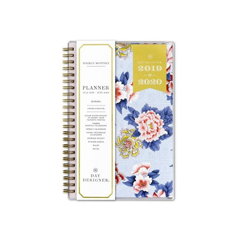 "2019-2020 Academic Planner 5""x 8"" Blue/Pink Floral - Day Designer for Blue Sky - image 1 of 5"