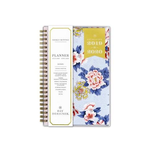 2019 2020 Academic Planner 5 X 8 Blue Pink Floral Day Designer