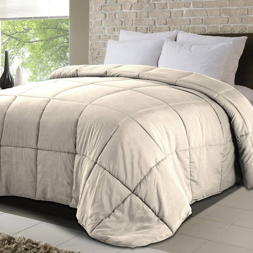 Twin Down Alternative Comforter Khaki Never Down