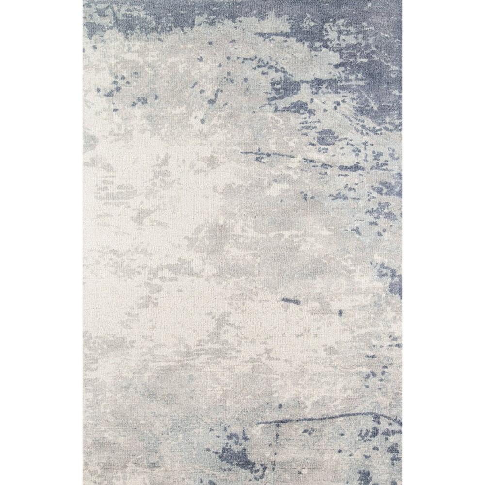 Blue Shapes Tufted and Hooked Area Rug 5'x7'6 - Momeni