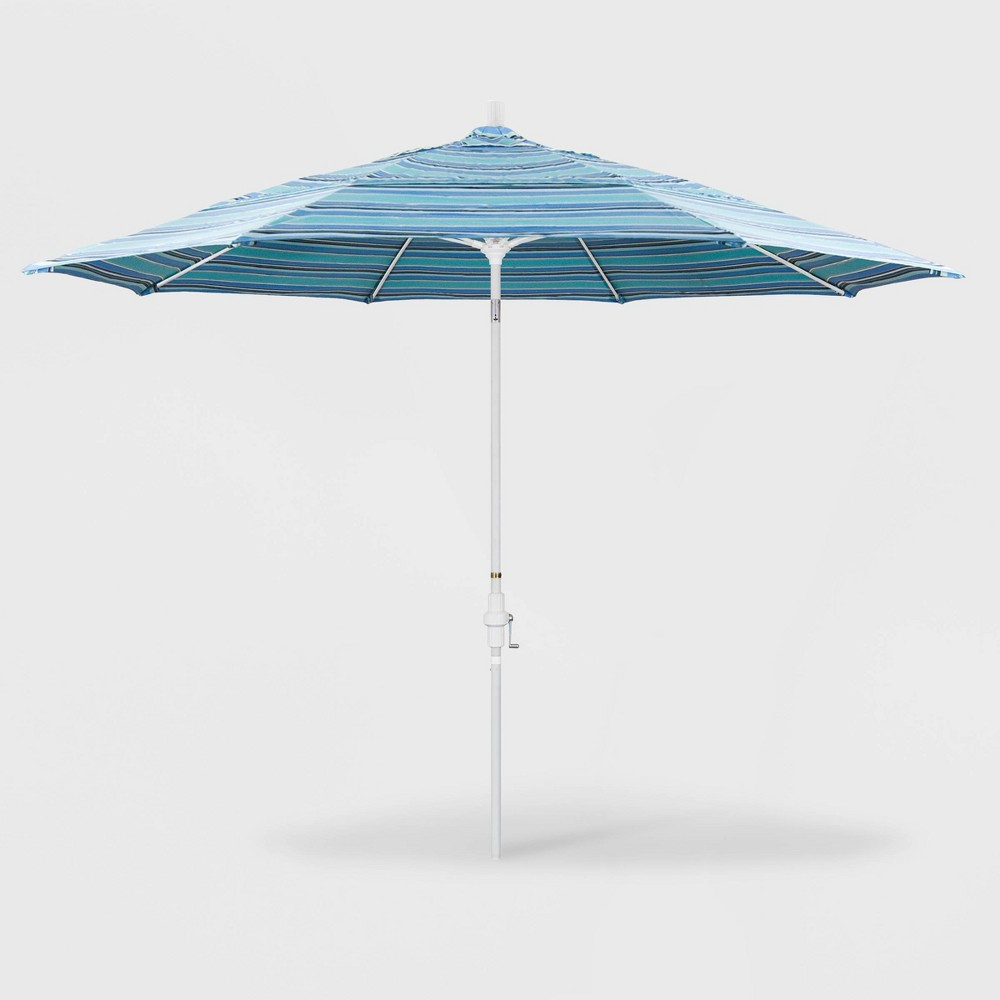 11' Sun Master Patio Umbrella Collar Tilt Crank Lift - Sunbrella Dolce Oasis - California Umbrella