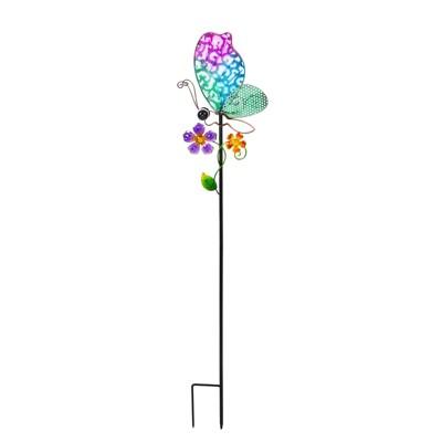 "Evergreengarden 36""H Secret Solar Garden Stakes, Butterfly"