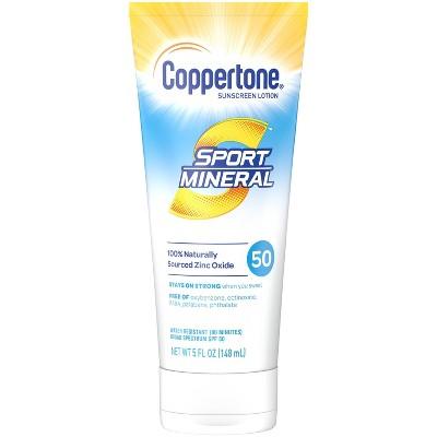 Coppertone Sport Mineral Sunscreen Lotion - SPF 50 - 5 fl oz
