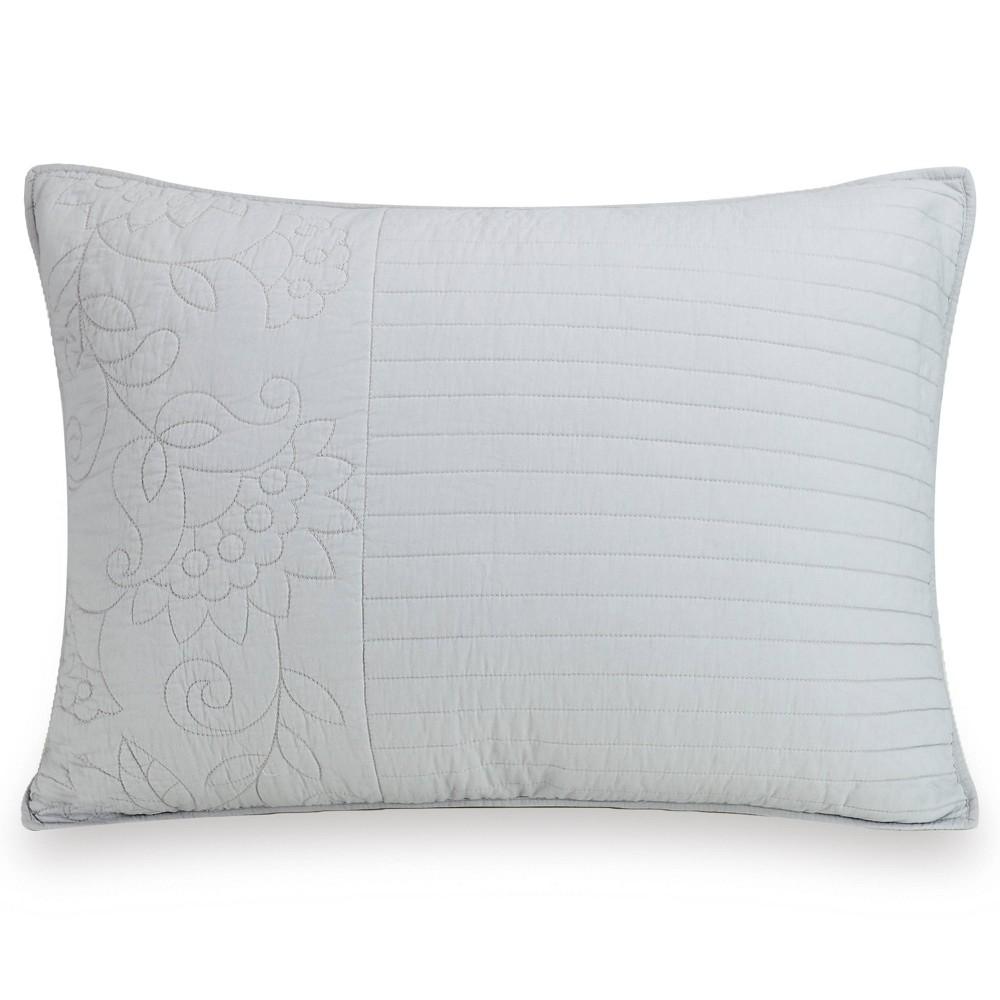 Image of Standard Laos Lily Pillow Sham Gray - Vera Bradley