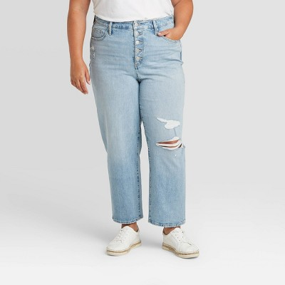 Women's High-Rise Vintage Straight Jeans - Universal Thread™