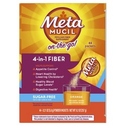 Metamucil Psyllium 4-in-1 Fiber Supplement Sugar Free - Orange - 44ct