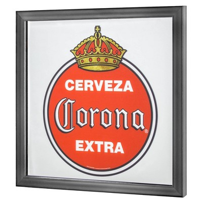 Vintage Corona Extra Screen Printed Mirror Red/White - Crystal Art Gallery