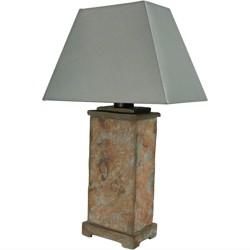 "24"" Indoor/Outdoor Natural Slate Table Lamp - Sunnydaze Decor"
