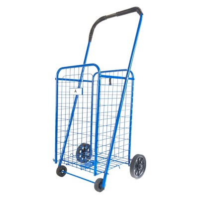 "ATHome 40.5""X16""X5"" Shopping Utility Storage Cart Blue"