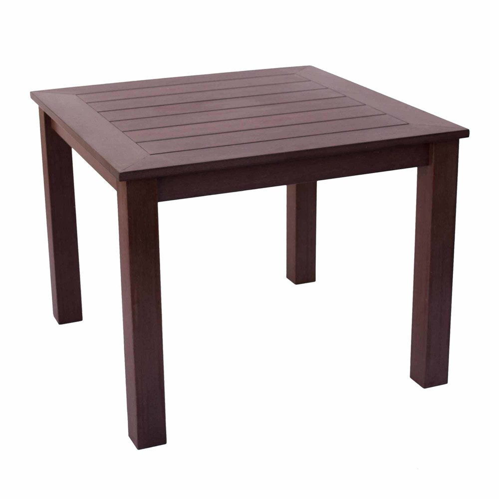 Sunrise Outdoor Plastic Dining Table Brown - Shine Company Inc.