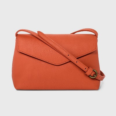 Envelope Snap Closure Crossbody Bag - Universal Thread™ Orange