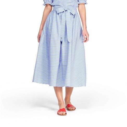 772af033e5 Women's Striped Midi Skirt - Navy/White - Vineyard Vines® For Target :  Target