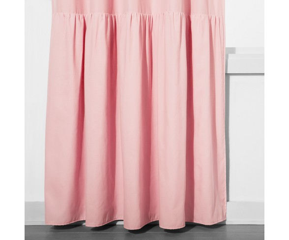 "Ruffle Blackout Curtain Panel Pink (42""x63"") - Pillowfort™"