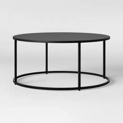 Glasgow Round Metal Coffee Table Black - Project 62™