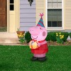 Gemmy Airblown Inflatable Birthday Party Peppa Pig, 3.5 ft Tall, pink - image 2 of 2