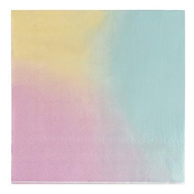 Blue Panda 150-Pack Rainbow Pastel Disposable Paper Napkins Party Supplies