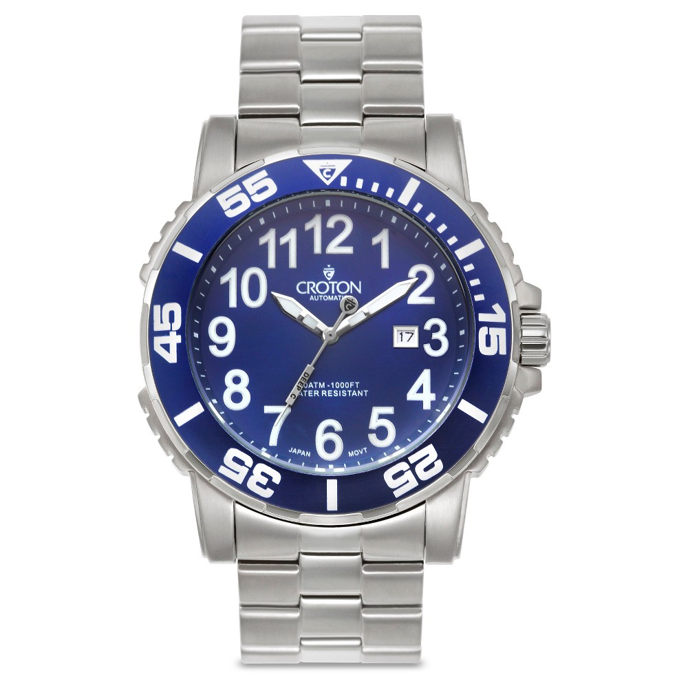Croton Men's Stainless Steel Wristwatch, Multi-Colored
