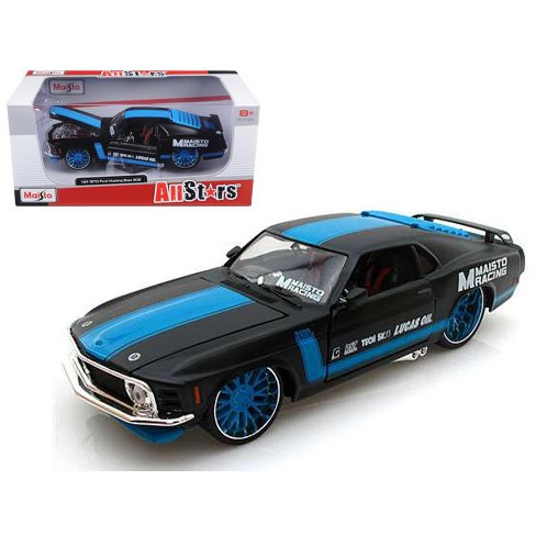 """1970 Ford Mustang Boss 302 All Stars"""" Black 1/24 Diecast Model Car by Maisto"""" - image 1 of 1"""