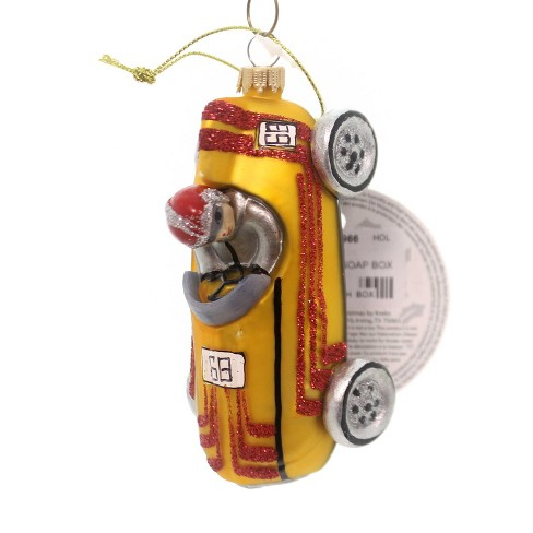 Holiday Ornaments Vintage Soap Box Car Race Racer - image 1 of 2
