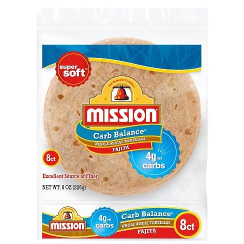 Mission Carb Balance Fajita Whole Wheat Tortillas - 8ct - image 1 of 4