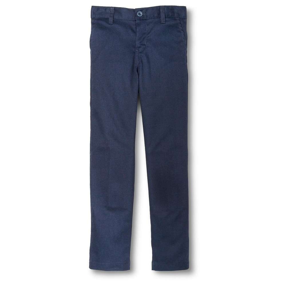 Dickies Boys' Slim Fit Flat Front Pants - Dark Navy 18